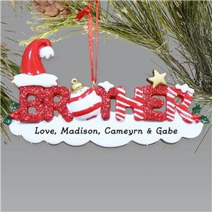 Brother Personalized Christmas Ornament | Personalized Christmas Ornaments