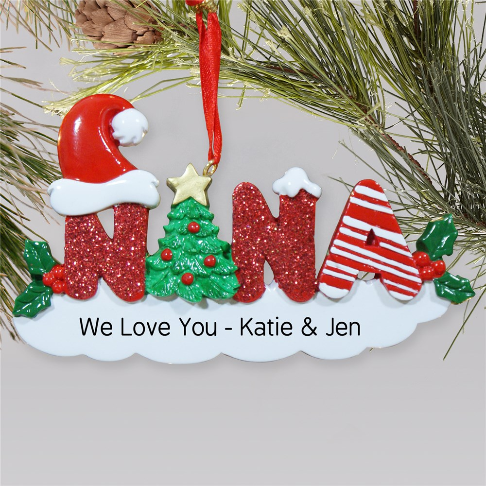 Nana Personalized Christmas Ornament | Personalized Christmas Ornament