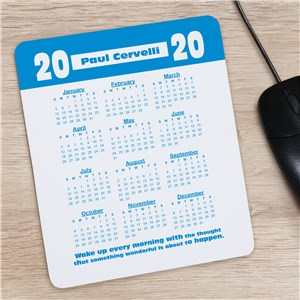 Wake Up Calendar Personalized Mouse Pad