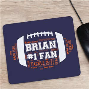 Foorball Word-Art Mouse Pad | Office Desk Gifts for Him