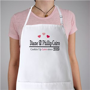 Cookin Up Love Personalized Apron | Personalized Aprons
