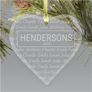 Our Family Heart Ornament | Personalized Ornaments