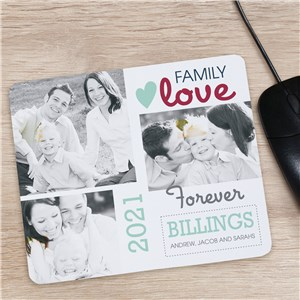Family Photo Collage Personalized Mouse Pad | Mother's Day Photo Gifts