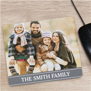 Family Photo Personanlized Mouse Pad | Gifts for Mom