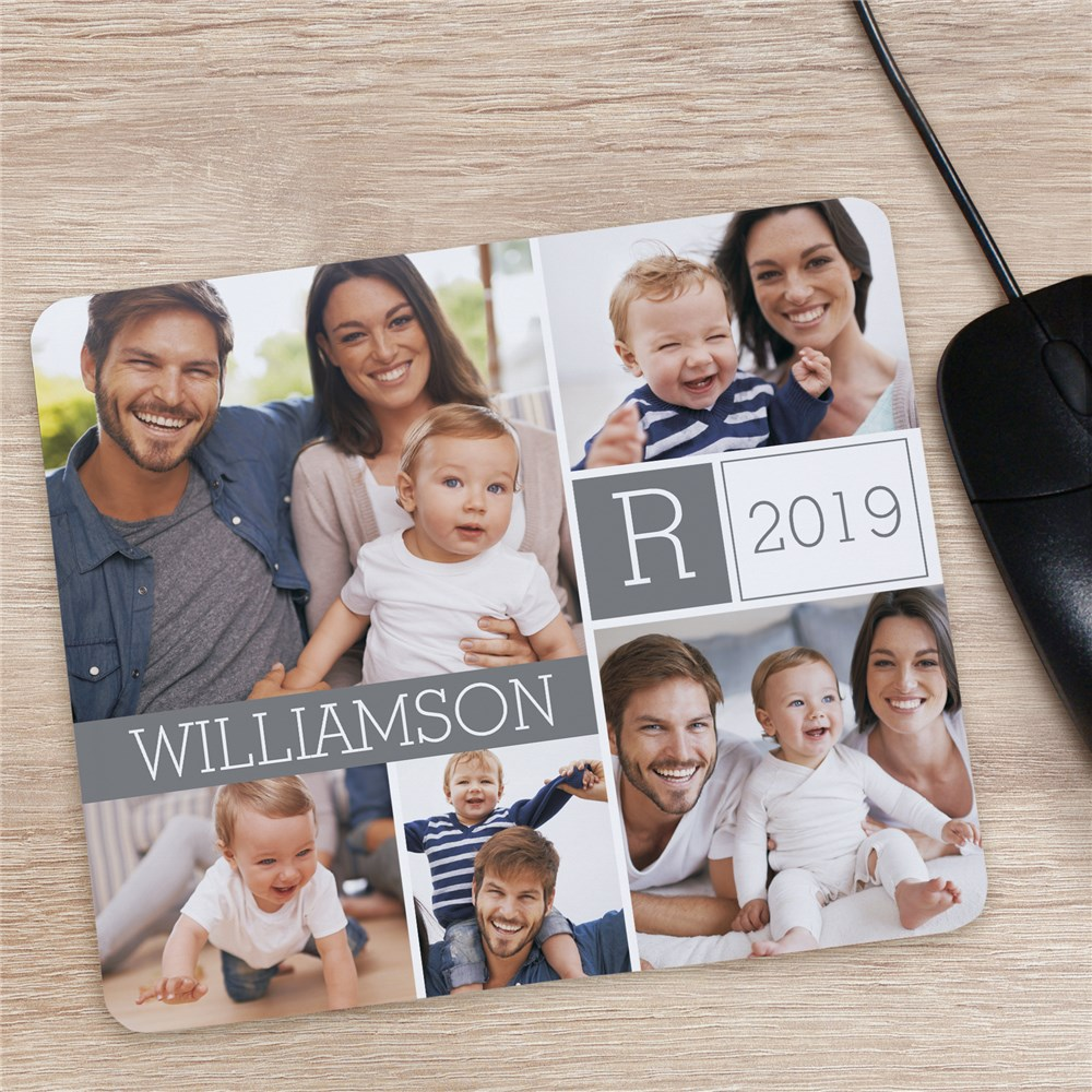 Family Photo Collage Mouse Pad