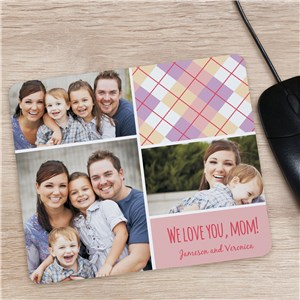 Personalized Mom Photo Collage Mouse Pad | Unique Mother's Day Gifts