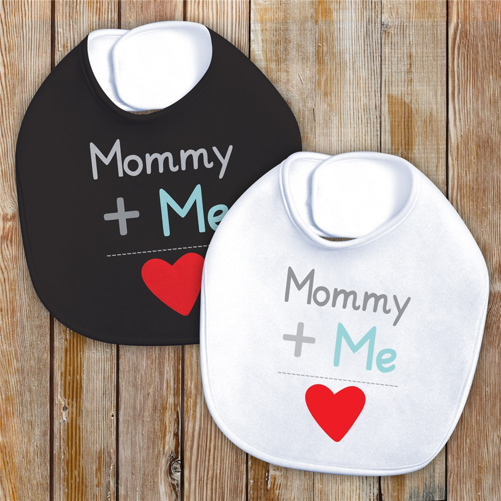 Plus Me Personalized Baby Bib | Valentine's Day Baby Bib