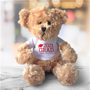 Personalized Grad Beige Plush Bear 901022820