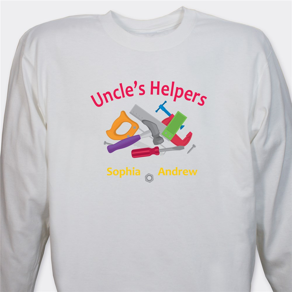 Personalized Helpers Long Sleeve Shirt | Personalized Dad Shirts