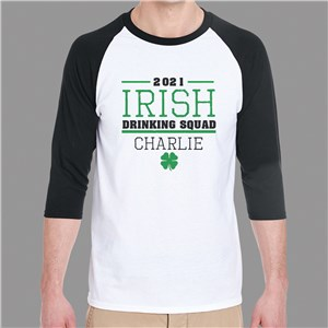 St. Patrick's Day Baseball Shirts | Personalized Raglan Shirts