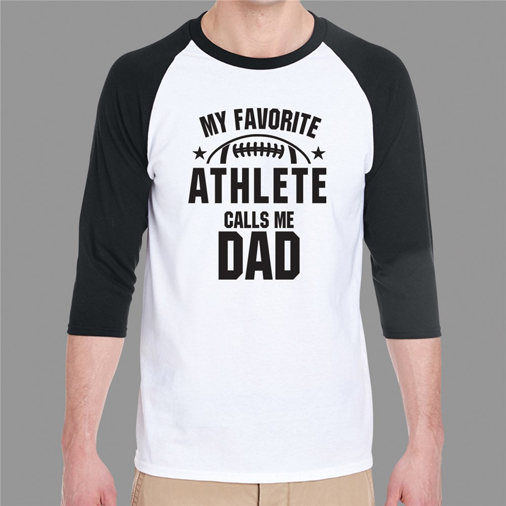 Father's Day Raglan Shirt | Athlete Dad Shirt