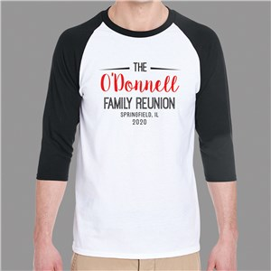 Personalized Raglan Shirt | Script Name Reunion Shirt