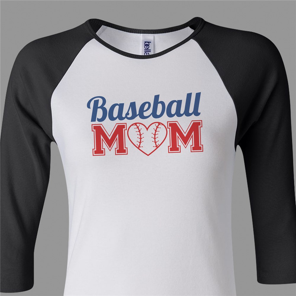Sports Mom Raglan Shirt | Baseball Mom Shirt