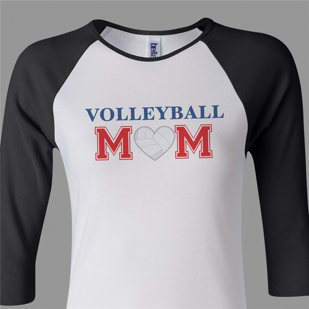 Sports Mom Raglan Shirt | Volleyball Mom Shirt
