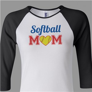Sports Mom Raglan Shirt | Softball Mom Shirt
