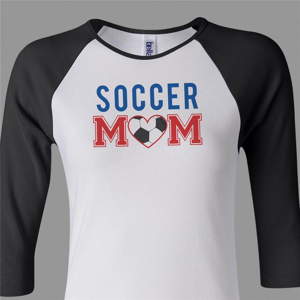 Sports Mom Raglan Shirt | Soccer Mom Shirt