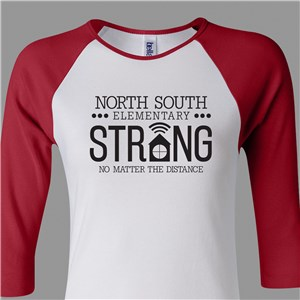 Personalized School Spirit Strong Women's Raglan Shirt