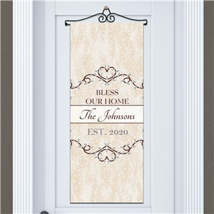 Bless Our Home Personalized Door Banner | Housewarming Gift Ideas