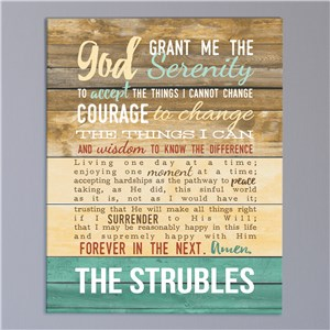Serenity Prayer Wall Canvas | Personalized Religious Decor