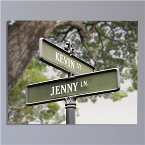 Personalized Love Street Canvas | Romantic Home