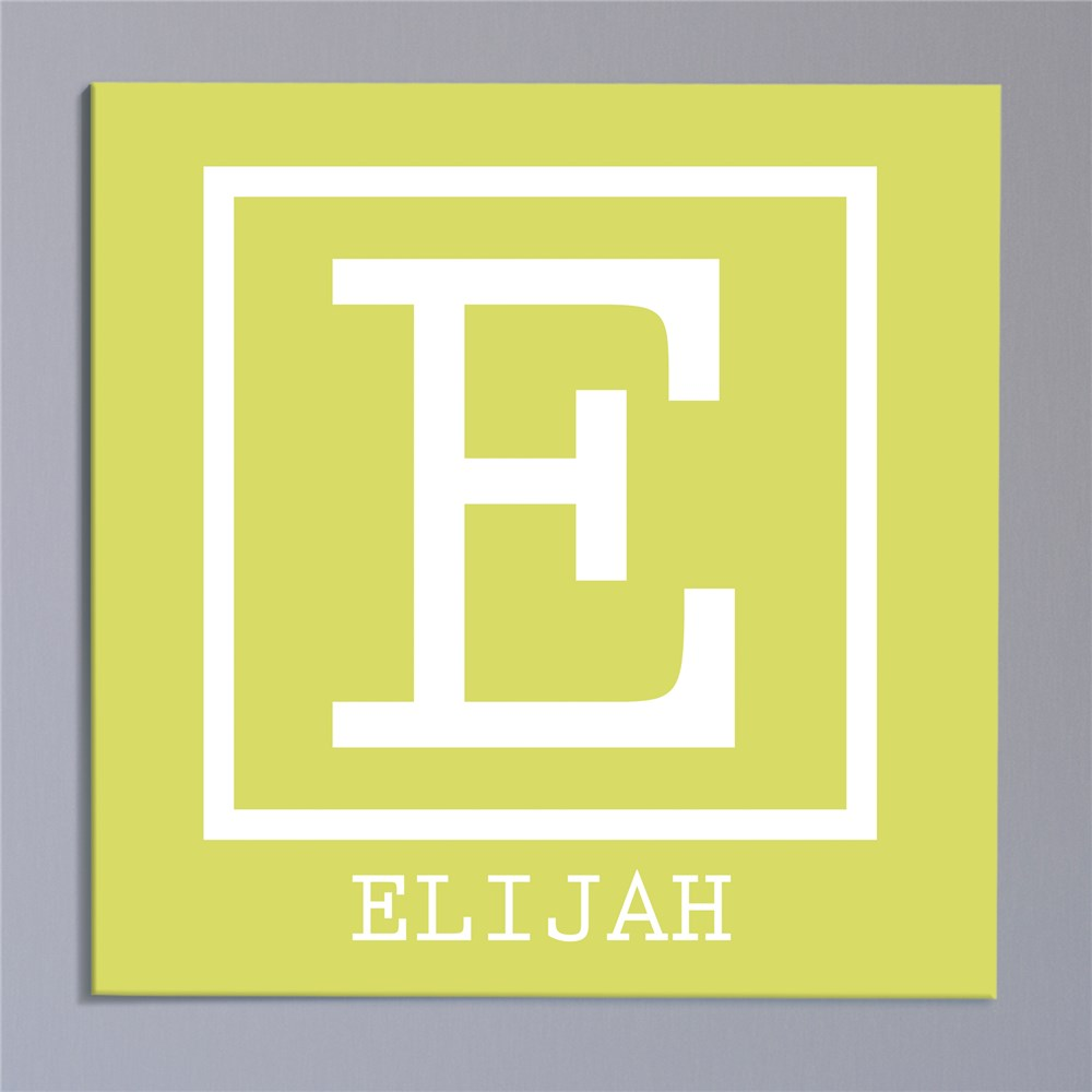 Baby Monogram Personalized Canvas | Personalized Name Art