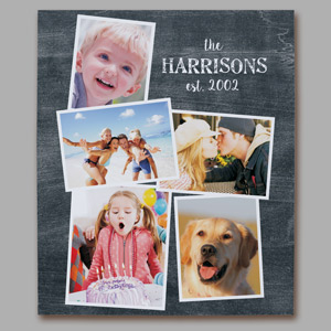 Personalized Family Photo Collage Wall Canvas