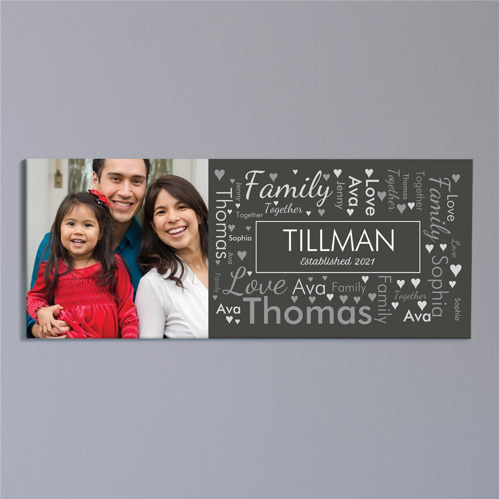 Personalized Infinity Symbol Wall Canvas | Personalized Father's Day Gifts