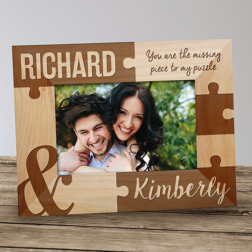 Personalized You Are The Missing Piece Wood Frame | Valentine's Day Photo Frames