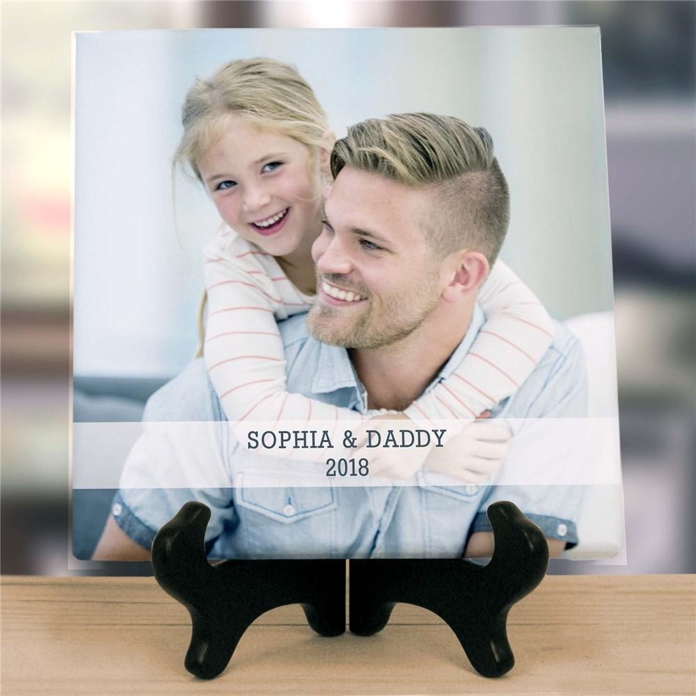 Personalized Dad Tabletop Photo Canvas | Gifts For Daddy