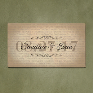 Personalized Have and Hold Wedding Canvas 91104513X