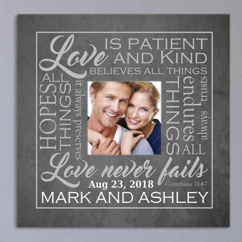 Love is Photo Wedding Canvas | Personalized Wedding Gift