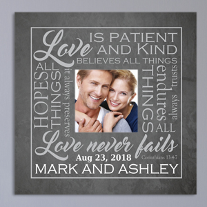 Love is Photo Wedding Canvas
