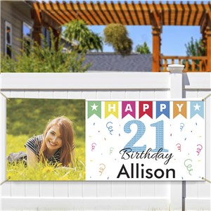Personalized 21st Birthday Photo Banner | Personalized Photo Gifts