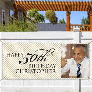 Personalized 50th Birthday Photo Banner 911048814
