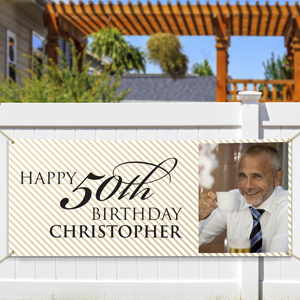Personalized 50th Birthday Photo Banner