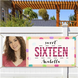 Personalized Sixteenth Birthday Photo Banner | Personalized Photo Gifts