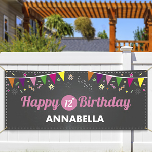 Personalized Chalkboard Birthday Banner 911052314
