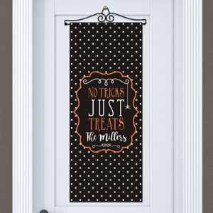 Personalized Trick or Treat Halloween Banner
