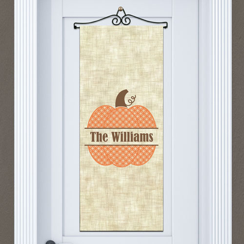 Personalized Family Name Pumpkin Door Banner | Personalized Decor For Halloween