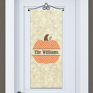 Personalized Family Name Pumpkin Door Banner 911060715