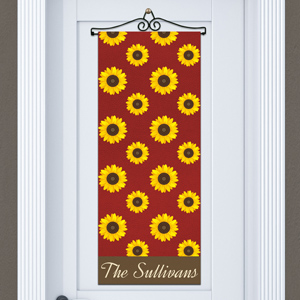 Personalized Sunflower Door Banner