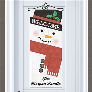 Personalized Snowman Door Banner | Personalized Christmas Signs