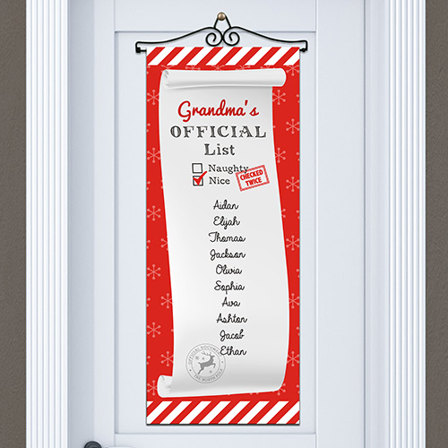 Personalized Nice List Door Banner | Personalized Christmas Decorations
