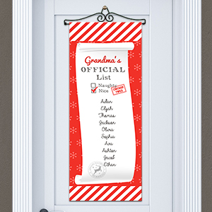 Personalized Nice List Door Banner 911069415
