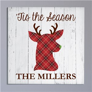 Personalized 'Tis the Season Canvas | Personalized Christmas Wall Art