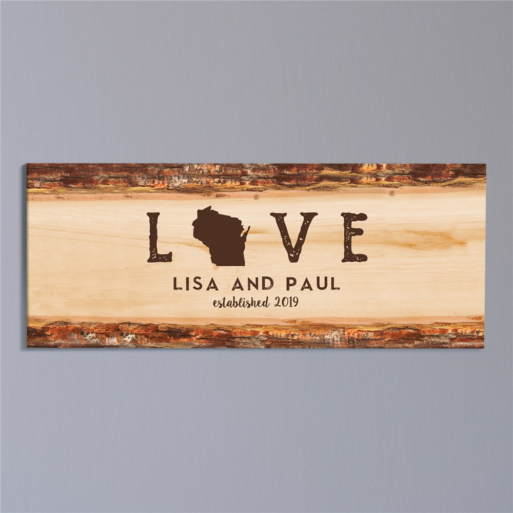 Personalized Love Established Canvas | Personalized Couples Gifts