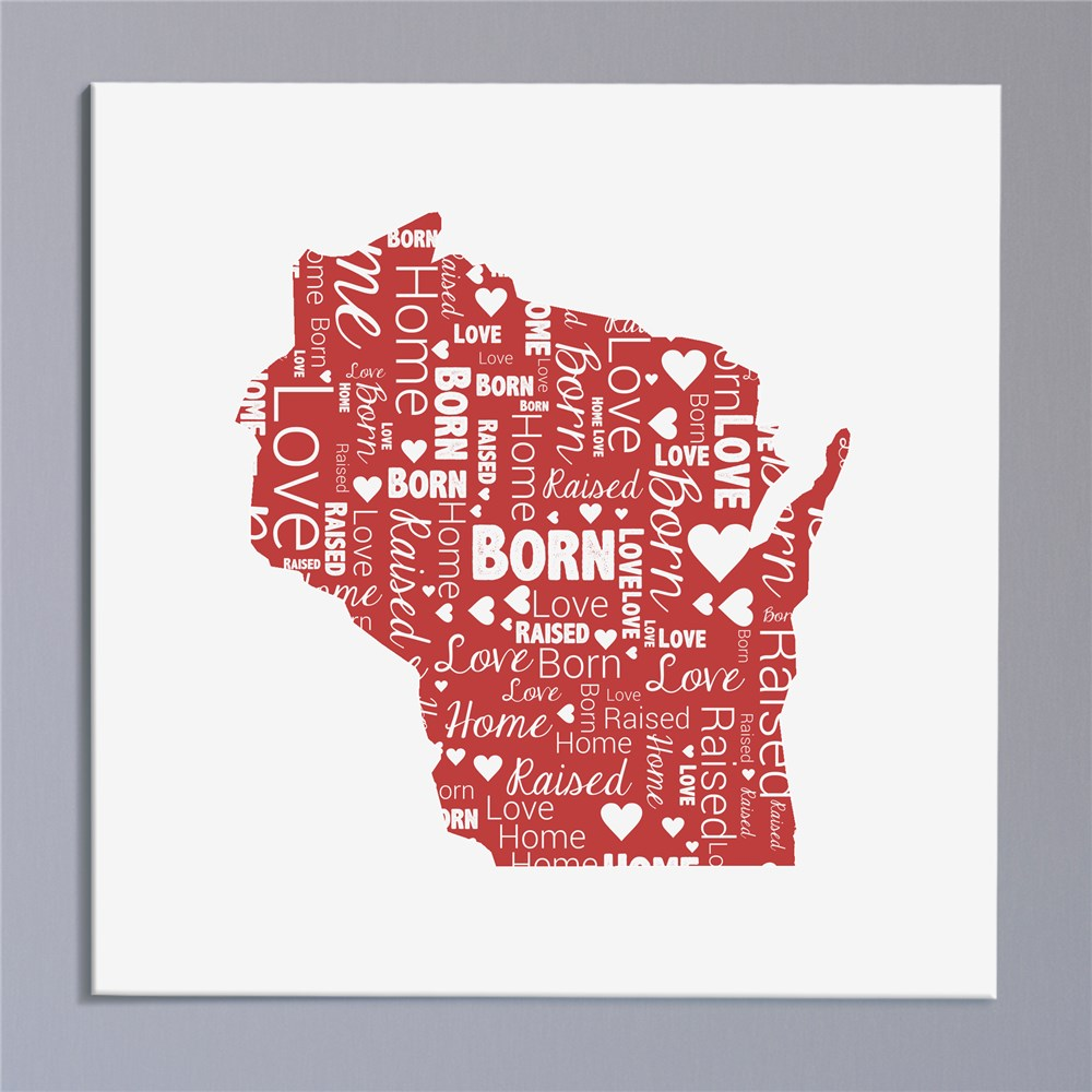 State Word-Art Canvas | Personalized Wall Decor