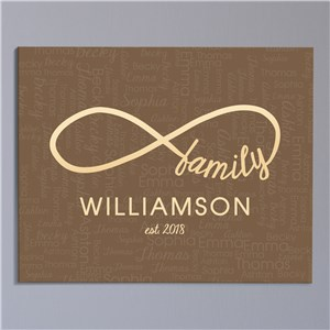 Personalized Infinity Wall Canvas | Mother's Day Personalized Gifts
