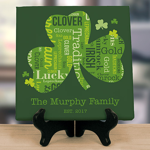 Shamrock Word-Art Canvas | Personalized Word Art