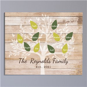Personalized Family Tree Wall Canvas | Personalized Housewarming Gifts